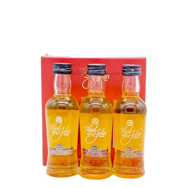 Paul John Probierset Whisky Tasting Set 3x0,05l
