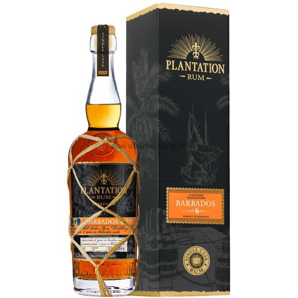Plantation Barbados 6 Jahre 41,3% Single Cask Edition 2020 Rum aus Barbados